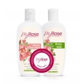 ПРОМО-набор Мицеллярная розовая вода + Молочко для тела My Rose (СКИДКА 32%)