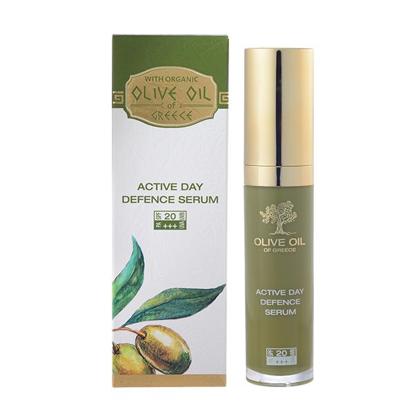 Сыворотка дневная для активной защиты кожи SPF 20 Olive Oil of Greece