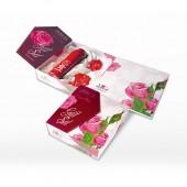 Подарочный набор Regina Floris (Молочко для тела с лифтинг-эффектом Q10 230мл, Натуральное мыло ручной работы Rose 2x80г)