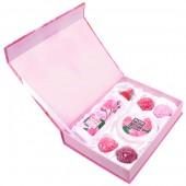 Подарочный набор Rose of Bulgaria № 1 (Натуральная розовая вода 230мл, Натуральное мыло ручной работы Роза 30г х 4, Крем для лица 100мл)
